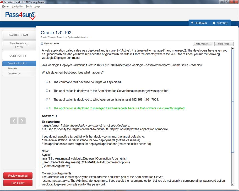Pass Oracle Certified Associate, Oracle WebLogic Server 11g